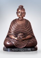 Buddha with Fire Bowl. 2013. Bronze, marble. 45 х 36 х 15