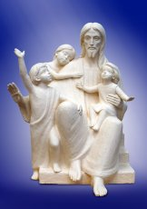 Jesus with children. 2011, chamotte