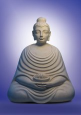 Buddha with Fire Bowl. 2003, chamotte